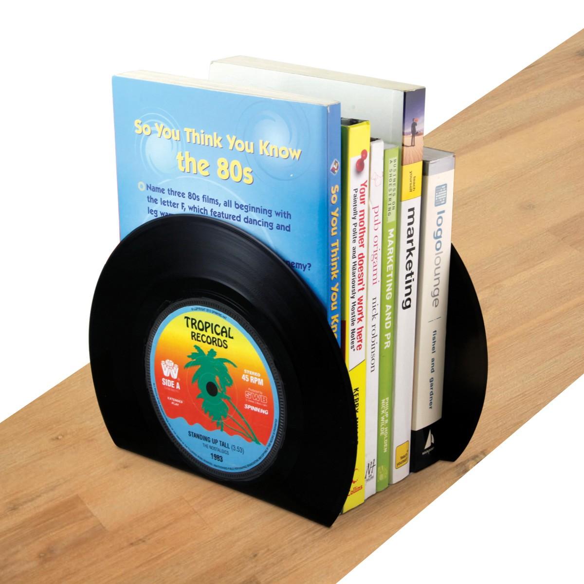 Winylowe podpórki do książek