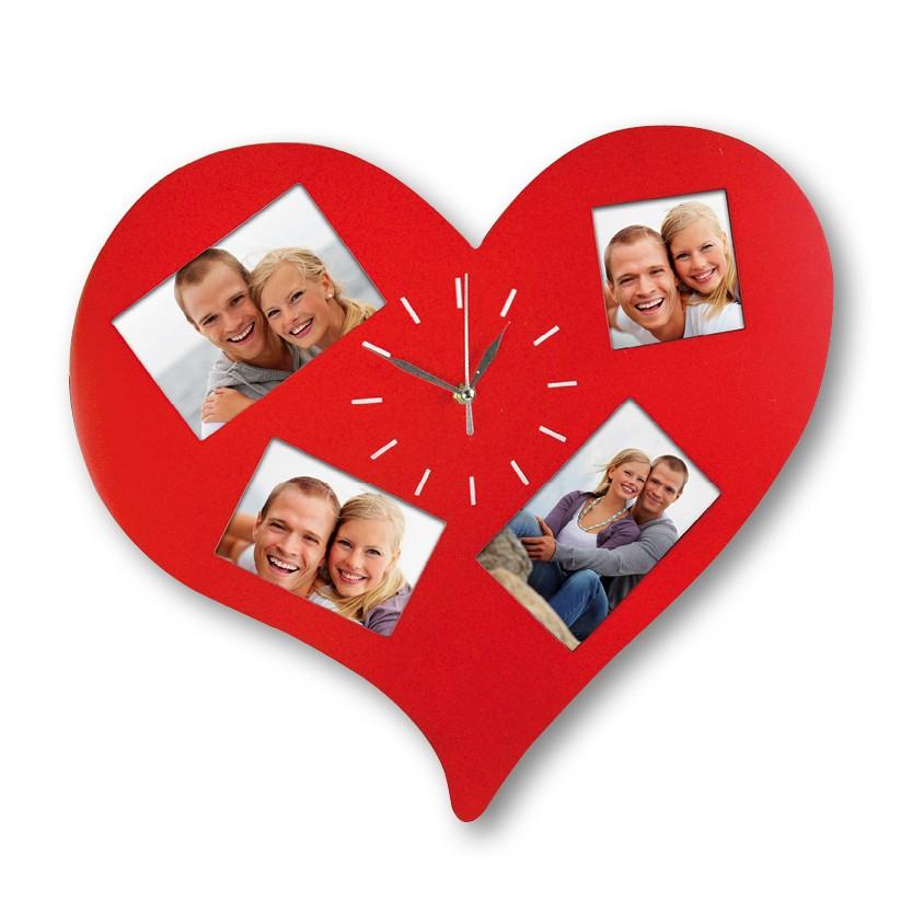 Zegar serce z ramką na zdjęcia