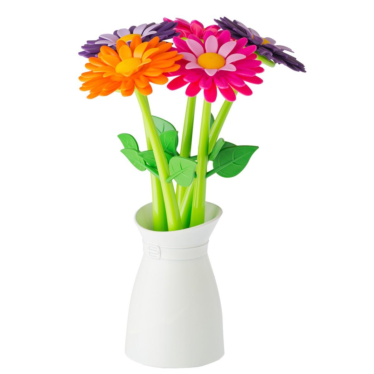 """Zestaw długopisów """"Kwiaty w wazonie"""""""