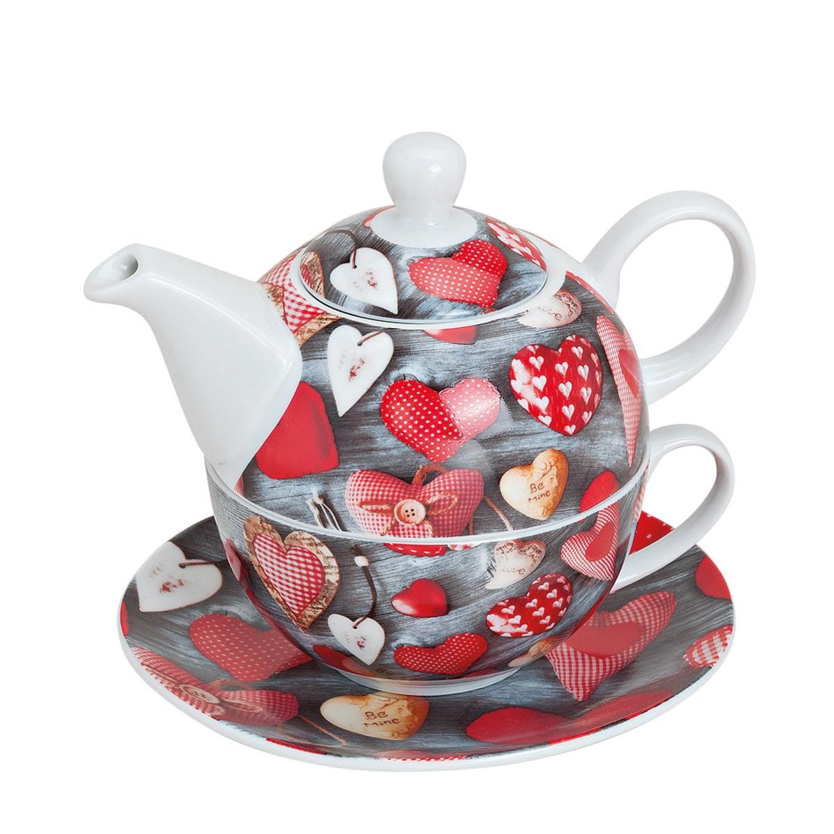 Zestaw do herbaty w serduszka