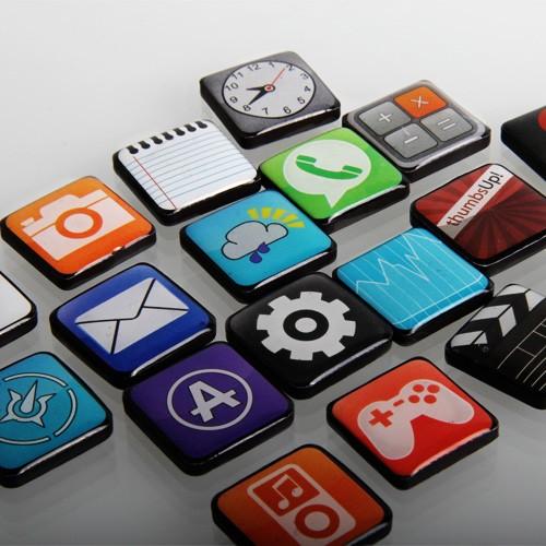 Zestaw magnesów iPhone Apps
