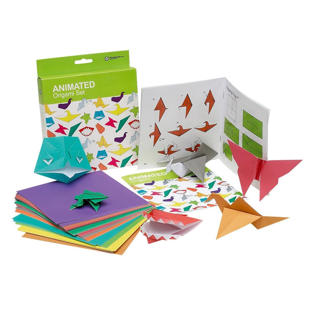 Zestaw origami - 100 arkuszy papieru